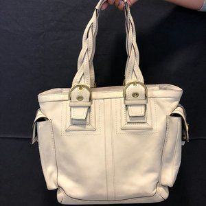 Coach Leather Tote with Braided Handles